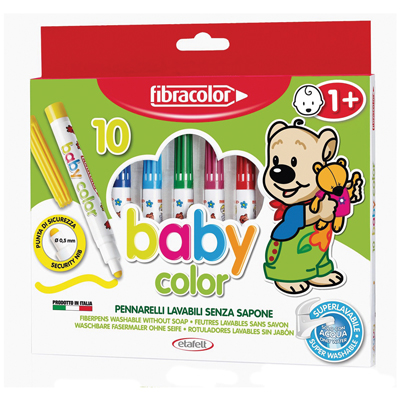 PENNARELLI FIBRACOLOR BABY COLOR 10 SUPERLAVABILE Foto