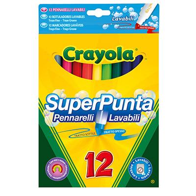 PENNARELLI FIBRA CRAYOLA FINE LAVABILE 12