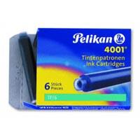 CARTUCCE STILO PELIKAN 4001 TP/6 TURCHESE