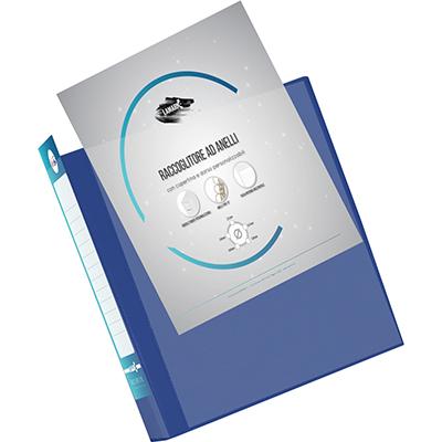 RACCOGLITORE PERSONALIZZABILE OFFICE LINE DORSO 40 A4 4D BLU