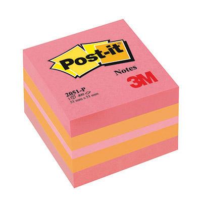 POST-IT MINI CUBO 51X51 ROSA 2051P