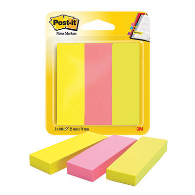 POST-IT SEGNAPAGINA CARTA 671-3 NOTE MARKER PZ.3 COLORI CLASSICI