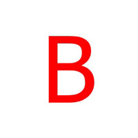 LETTERE ADESIVE MM.30 ROSSO B