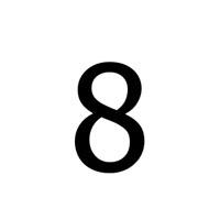 NUMERI ADESIVI MM.75 NERO 8