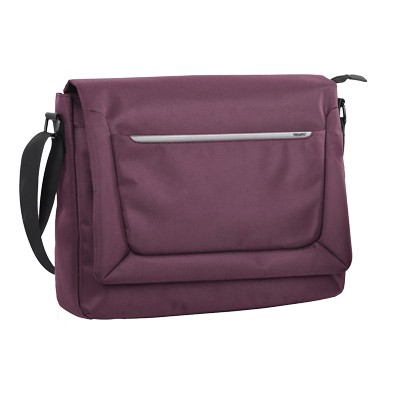 "BORSA PORTA NOTEBOOK JOB 15"" CON TRACOLLA IN TELA BORDEAUX"