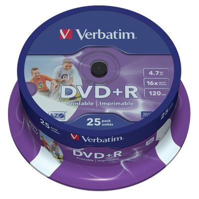 DVD+R 16X VERBATIM 4.7 GB CAMPANA PZ.25