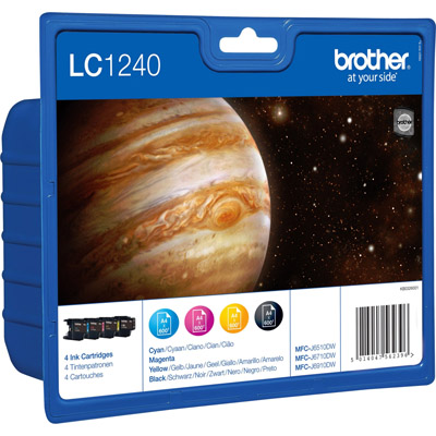 MULTIPACK BROTHER LC1240VALBP 4 COLORI
