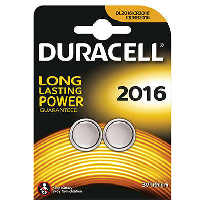 BL.2 BATTERIE DURACELL PLUS POWER PASTIGLIA LITIO DL 2016