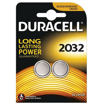 BL.2 BATTERIE DURACELL PLUS POWER PASTIGLIA LITIO DL 2032